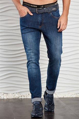 Lacivert Slim Fit Jean